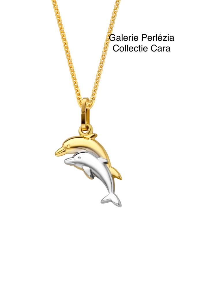 Hanger goud 18 karaat dolfijn